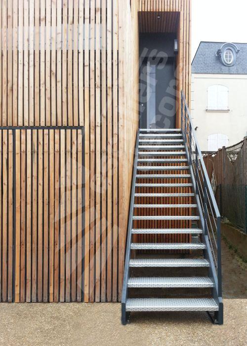 photo dt110 esca 39 droit escalier ext rieur droit au. Black Bedroom Furniture Sets. Home Design Ideas