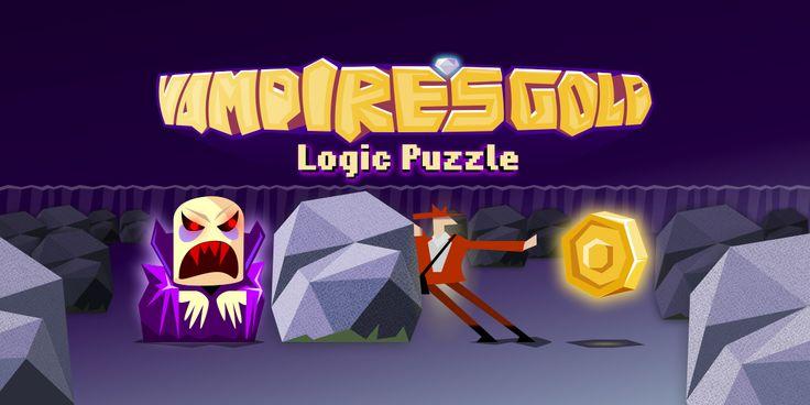 Простые правила, сложная игра-головоломка. Заберите золото у вампиров, двигая стены.