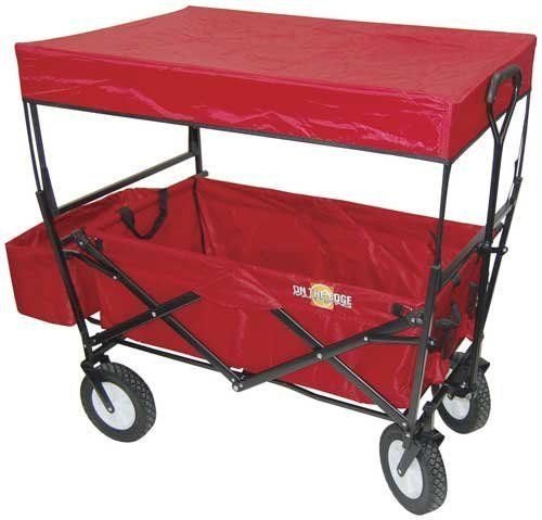 on the edge 900124 red folding utility wagon with handle 811799011906 designed for outdoor fun. Black Bedroom Furniture Sets. Home Design Ideas