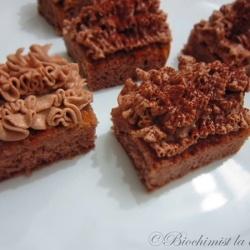 Chocolate ruffle mini cakes by rhapsody