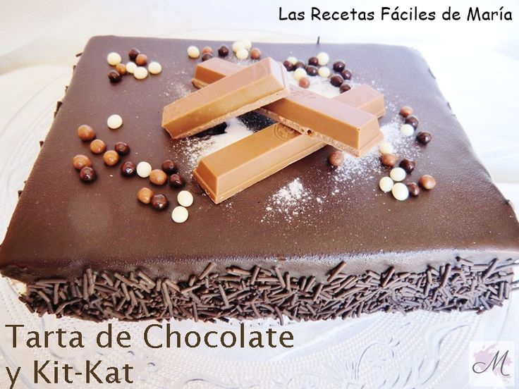 Receta Tarta de Chocolate y KitKat sin Gluten ,como hacer bizcocho genovés sin gluten, con trufa y ganache de chocolate, receta paso a paso fotografías.
