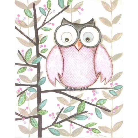 One Pink Owl Framed Art Print