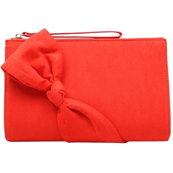 Carvela Dame Matchbag Clutch Bag ($51) ❤ liked on Polyvore featuring bags, handbags, clutches, red clutches, red pouch, red handbags, red purse and pouch purse
