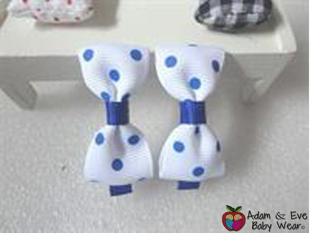 Blue Dots Hair Clips - Baby Girls Accessories