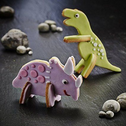 Lakeland-Formine per biscotti a forma di dinosauro 3D, crea 4 dinosauri)