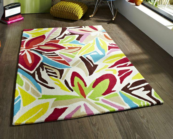 Modern cream multi coloured graffiti  rug 150 x 230cm (4ft 9 x 7ft 5 ) LOW STOCK