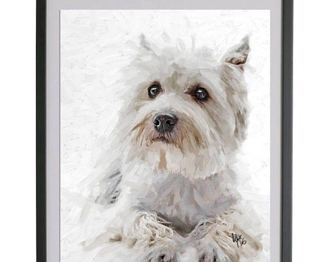 Perro de Westie Terrier West Highland perro westie West Highland Westie Terrier perro Highland Terrier de regalo westie art imprimir arte del perro de westie regalo