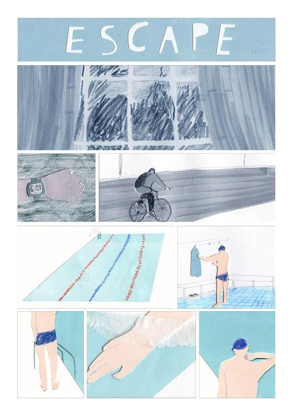 Escape Graphic Novel - Charlotte Ager illustration