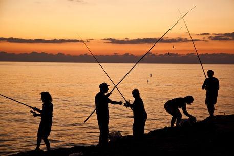 Fishing at the sunset. Taken at Kerpe,Kocaeli,Turkey.