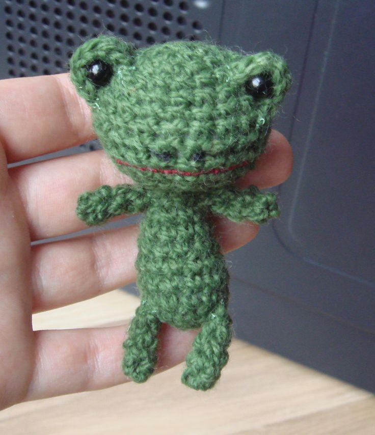 mała żaba, szydełkowa