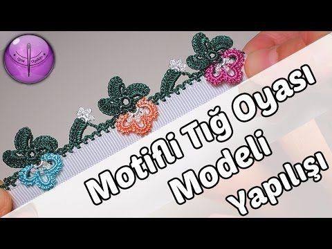 Dolgulu Çiçekli Tığ Oyası Modeli Yapılışı HD Kalite - YouTube