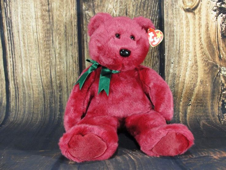 Ty Beanie Buddies Teddy Cranberry 13 inches tall with tag | Toys & Hobbies, Beanbag Plush, Ty | eBay!