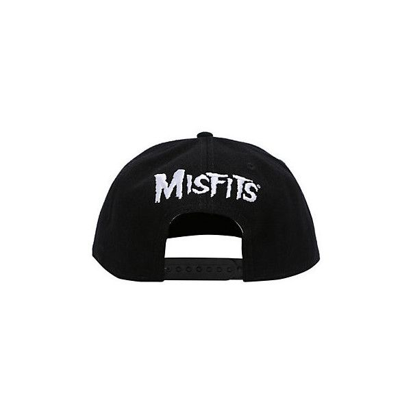 Misfits Fiend Skull Snapback Ball Cap | Hot Topic (€17) ❤ liked on Polyvore featuring accessories, hats, skull baseball cap, baseball snapback hats, snap back hats, embroidered ball caps and baseball caps