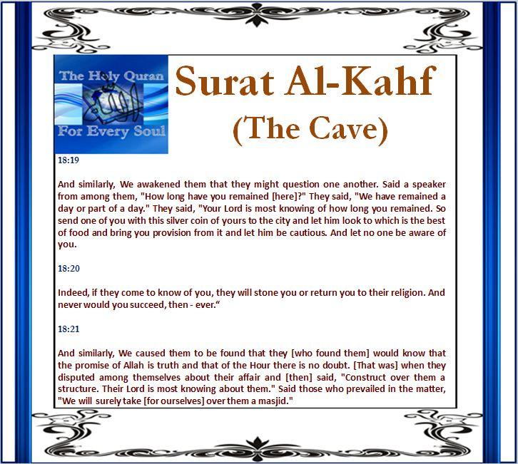 Surat Al-Kahf (The Cave) 18:19, 18:20, 18:21