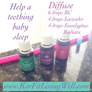 Help a teething baby sleep by diffusing this blend of essential oils #teething #babies #yleos #essentialoils #naturalremedies