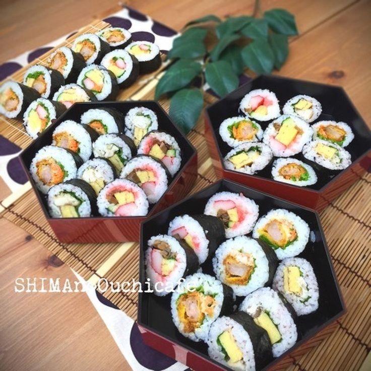SHIMAさんのブログ パーティや行楽弁当、ランチ会の持ち寄りにもに大 ... パーティや行楽弁当、ランチ会の持ち寄りにもに大活躍な アレンジ巻き寿司