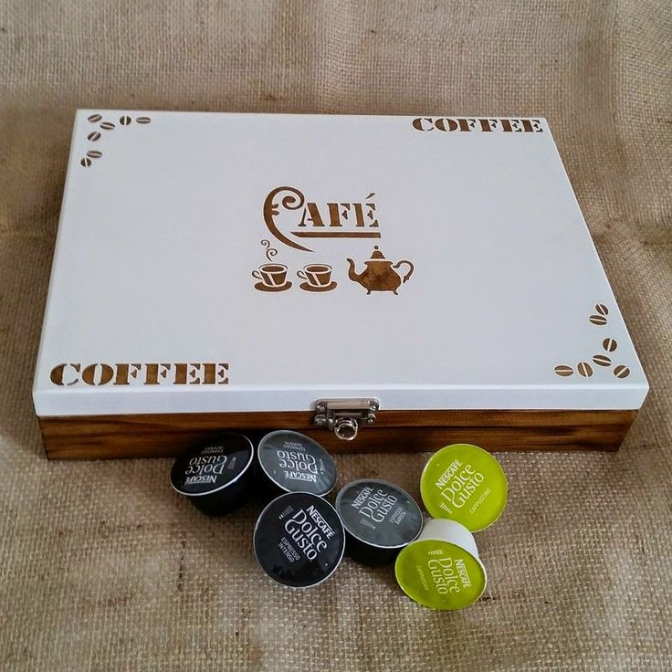 Arte lá em casa: Caixa para Capsula de Café Expresso Maleta - Coffe...