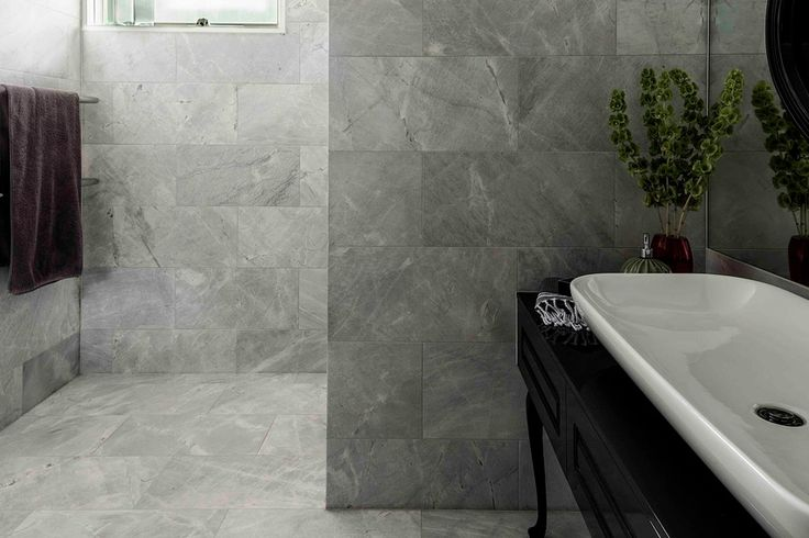 Elba marble is elegant, and it has cool grey tones and soft brown markings.