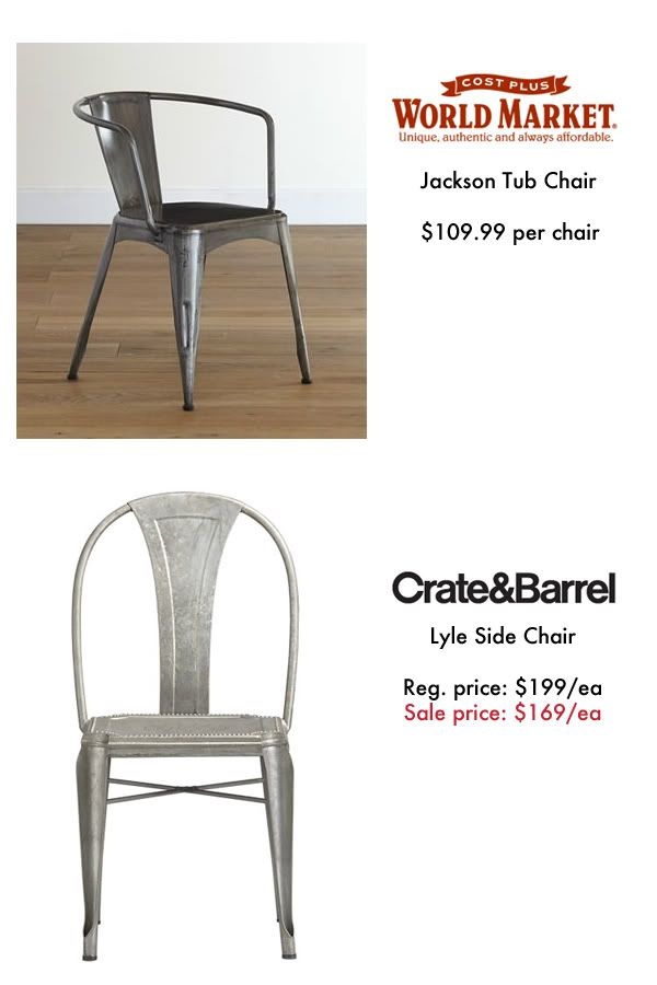 Industrial Chairs | The Lettered Cottage