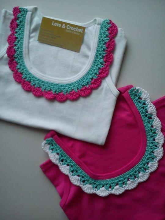 Franelilla Decorada a Crochet!!!