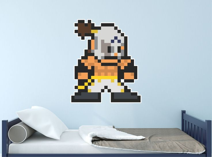 Street Fighter 8-Bit El Fuerte Vinyl Wall Decal