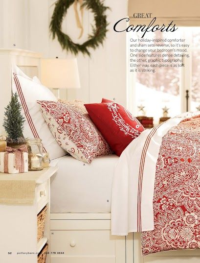43 best images about holiday bedding on pinterest guest rooms cotton quilts and pottery barn - Pottery barn holiday bedding ...