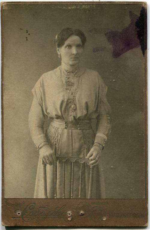 Старинное фото.Женщина дворянка, Фотография Соболева, Петроград.