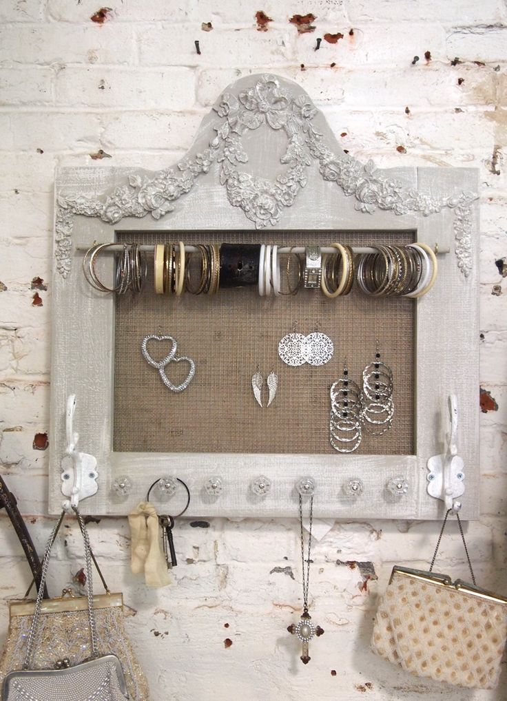 Painted Cottage Chic Shabby Farmhouse Jewelry Organizer [HD162] - $69.00 : The Painted Cottage, Vintage Painted Furniture