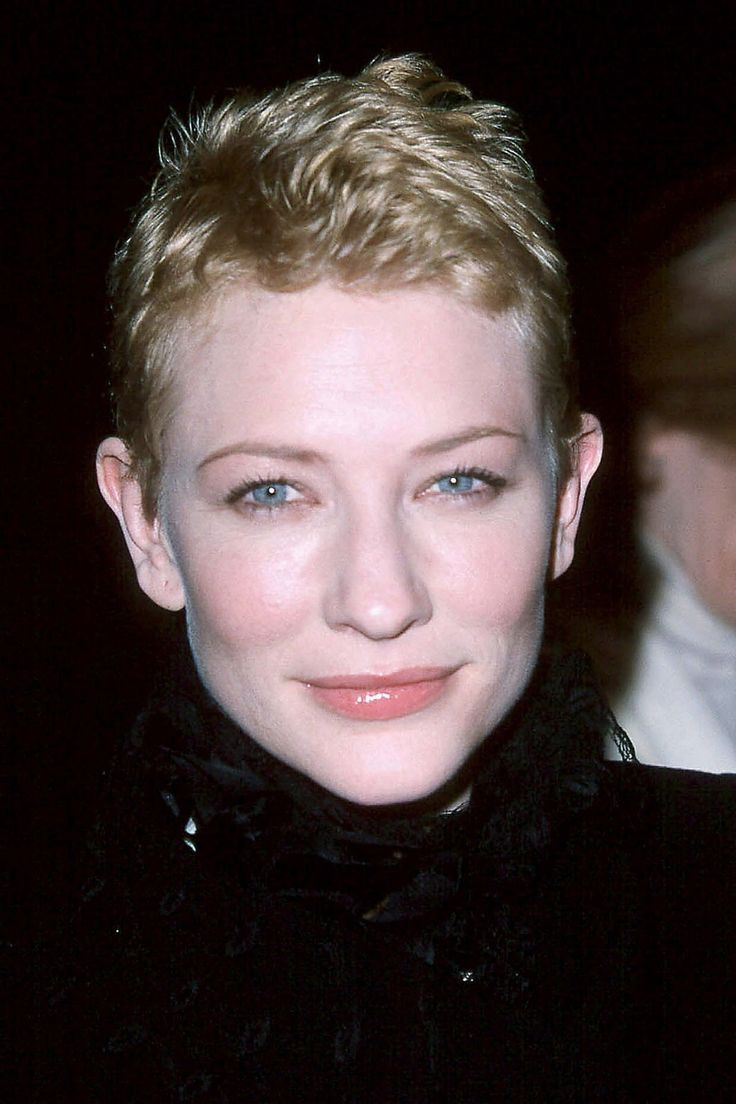 Remember This? The 18 Celebrity Hairstyles You Totally Forgot #refinery29  http://www.refinery29.com/53717#slide-1  Cate Blanchett, 2000 Cate could wear a skunk on her head and still be an ethereal beauty, but with closely cropped hair, she resembles a younger Dianne Wiest, non?...