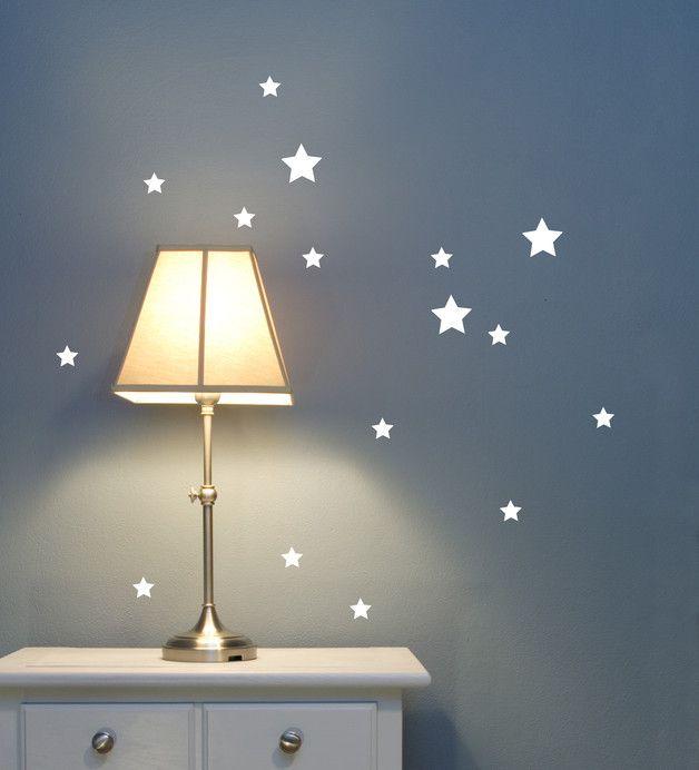 Good  Rauhfaser tauglich Kinderzimmerwandtattoo Wandtattoo Sterne Sternchen stars Wandtattoo Sterne Sternenhimmel Sterne Set M