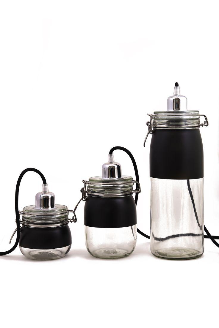 Jarlamp  I barattol con ferratura sono diventati, con l'avvento della tecnologia led, una serie di lampade personalizzabili a vostro gusto