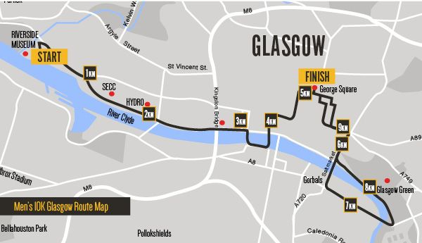 Glasgow Route Map