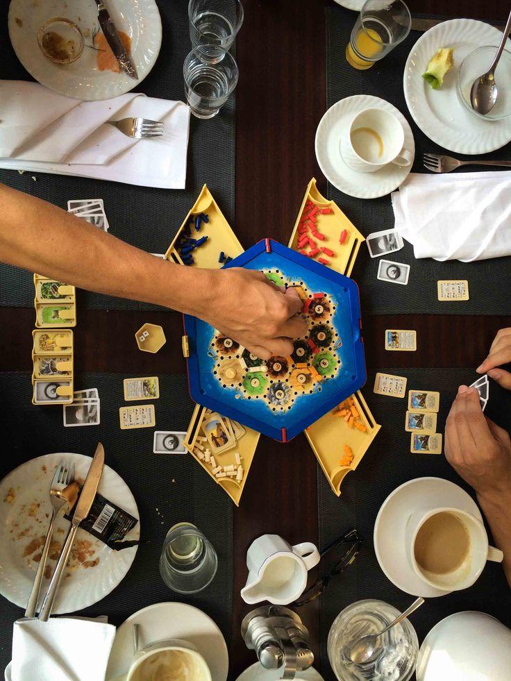Lecker frühstücken & spielen. Danke Dresden für deine Gastfreundschaft! #catan #aufnachcatan #breakfast #catankompakt #brettspiel
