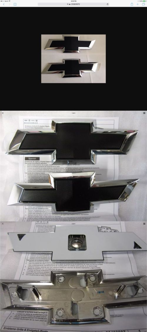 auto parts - general: Oem New 2016-2018 Silverado 1500 Black Bowtie Emblems Front And Rear Set 23303572 -> BUY IT NOW ONLY: $104.95 on eBay!
