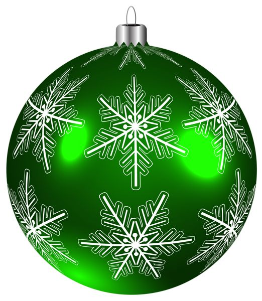 Beautiful Green Christmas Ball PNG Clip Art Image