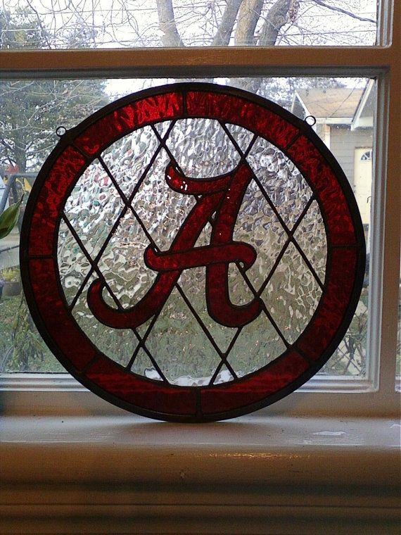 Alabama Crimson Tide SuncatcherAvaliable for by cloverglassart, $85.00