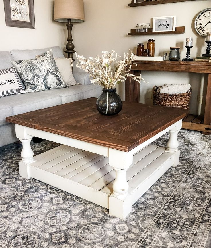 Rustic Baluster farmhouse Coffee Table special walnut in
