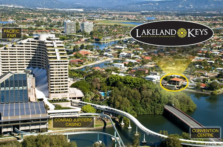 Lakeland Keys holiday home is located just behind Jupiters Casino and the Gold Coast Convention Centre, Broadbeach.