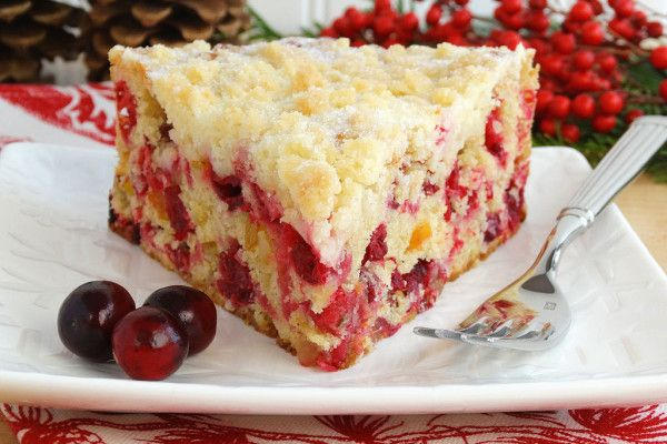 Christmas Cranberry Buckle {gluten free option}