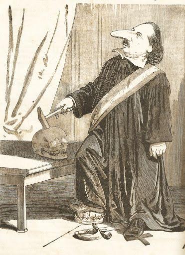 Jankó János: Pulszky Ferenc karikatúra