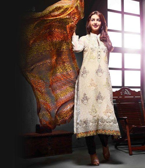 Tawakkal Artistry Chiffon Suit Collection 2015 3937_B