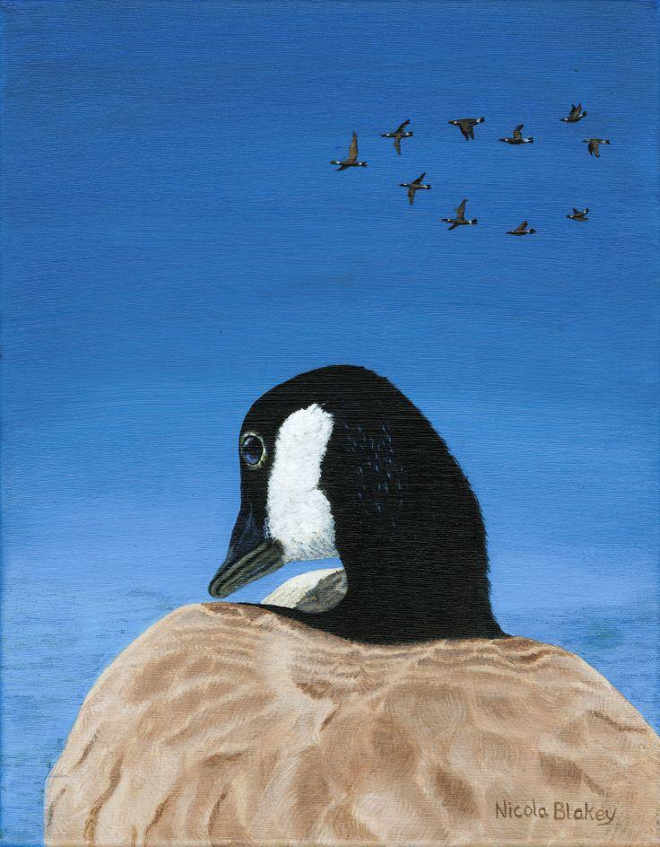 """Wild Goose"" Acrylic on canvas  nicolablakey.webs.com"