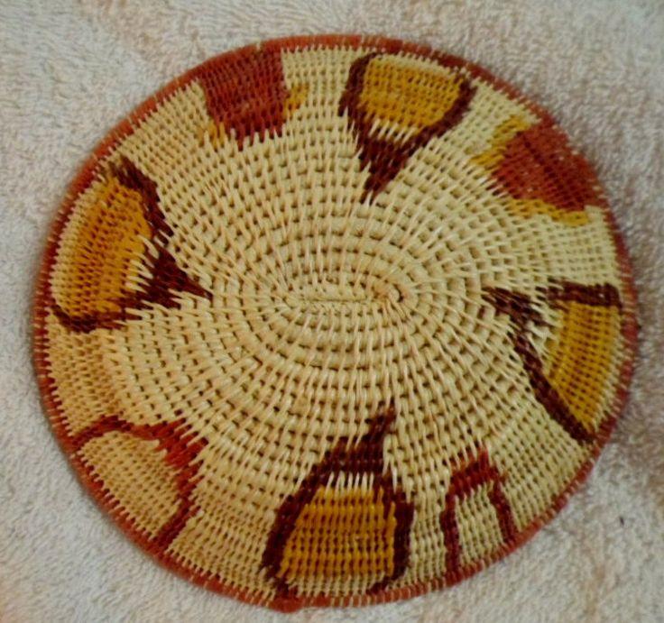 Wounaan Embera Indian Classic Plate Basket-Panama 16063023L