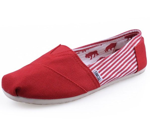 Toms Classics Women Red Shoes Outlet Sale