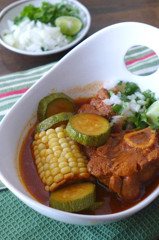 Mole de Olla is a hearty Mexican stew recipe perfect for Sunday dinner! Recipe by @nibblesnfeasts