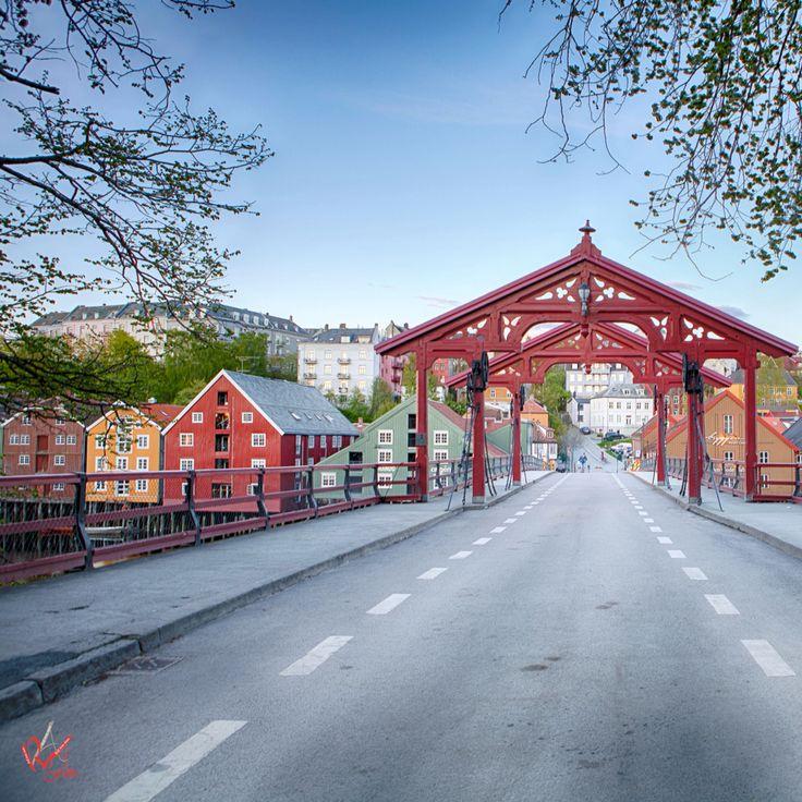 Old city bridge in #Trondheim #norway