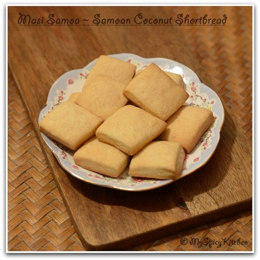 Samoan Coconut Shortbread, Samoan Coconut Cookies, Samoan Food, Food of the  World, Bake-a-thon, Bakeathon, Coconut Cookies,
