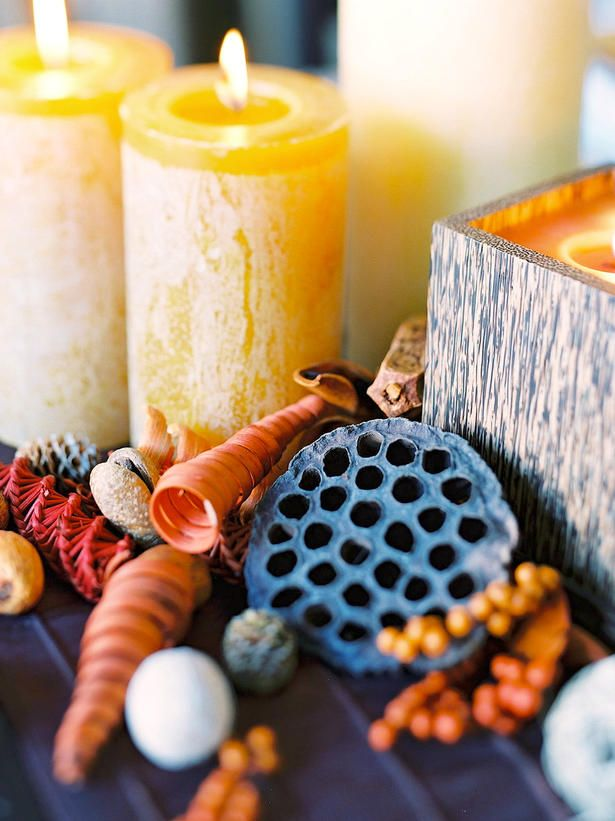 Simple Ways to Cozy Up Your Home for Fall : Decorating : Home & Garden Television  light up candles