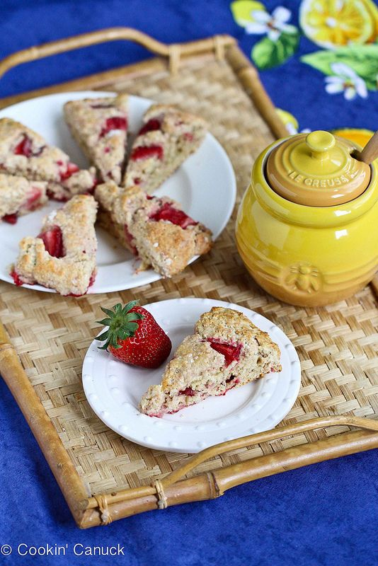Strawberries  Cream Scone Recipe for Mothers Day {Healthy}