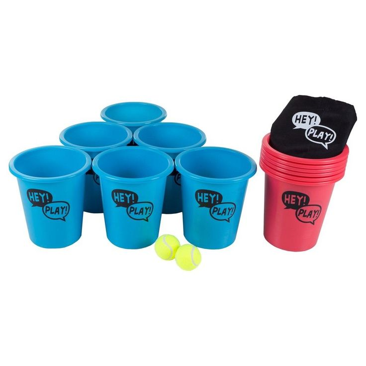 Hey! Play! Bucket Ball Giant Beer Pong Game,